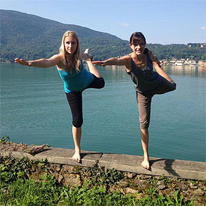 Yoga am Luganersee